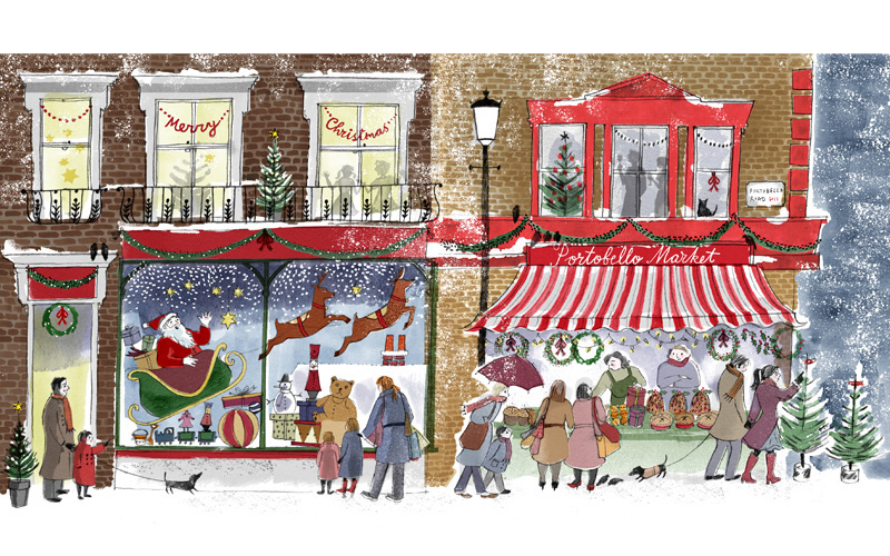 Image result for shops at Christmas