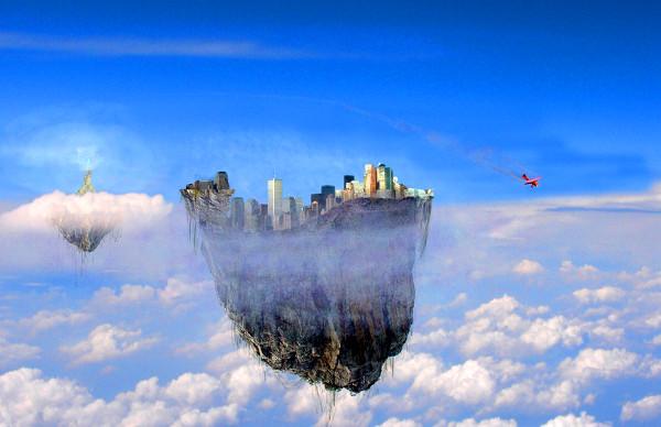 Città fantastica nel cielo