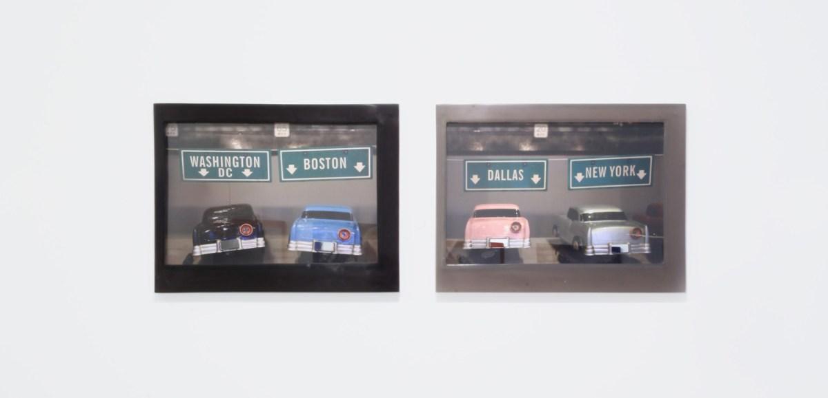 """Chiara Dynys : dalla serie """"Liseberg"""", 2017 - fusione di metacrilato, foto, vetro, argento, 53x69x4cm - courtesy Cortesi Gallery, Lugano"""