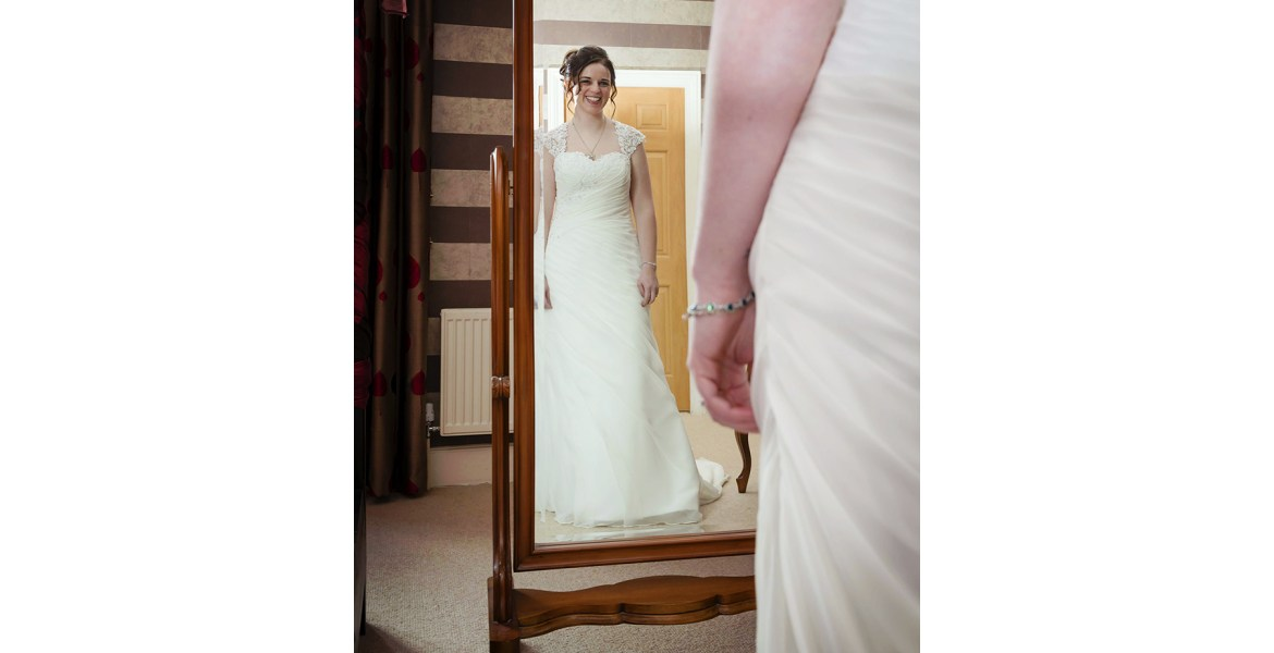 Gloucestershire wedding photographer delighted bride