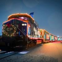 O trem de Natal CP Holiday Train chega em Toronto!
