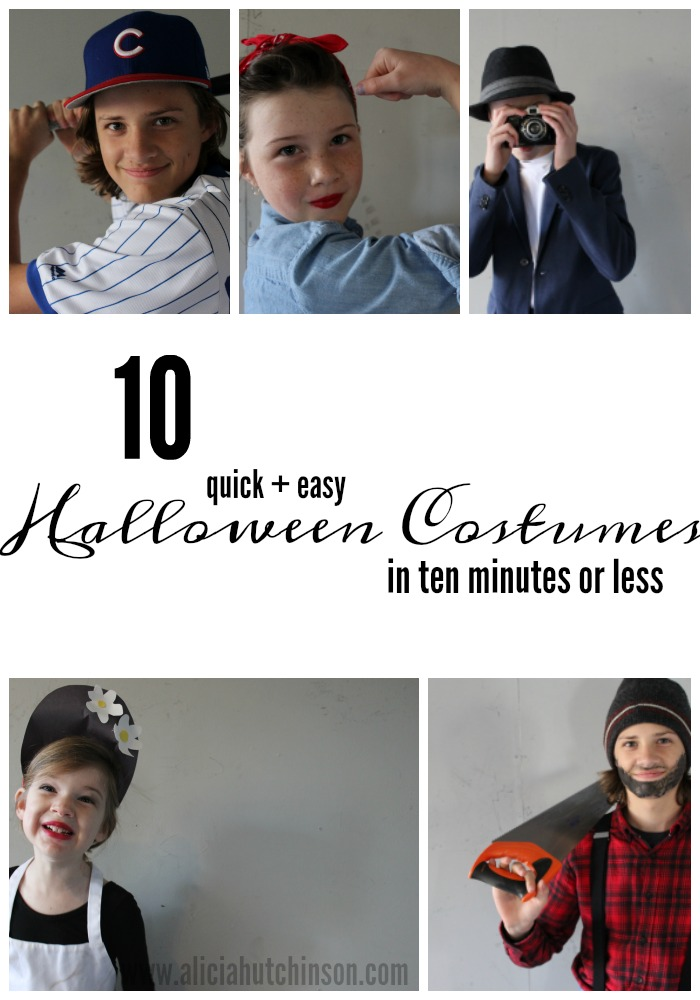 Halloween Costume Quick.10 Easy Halloween Costumes In 10 Minutes Or Less Over At Alicia S