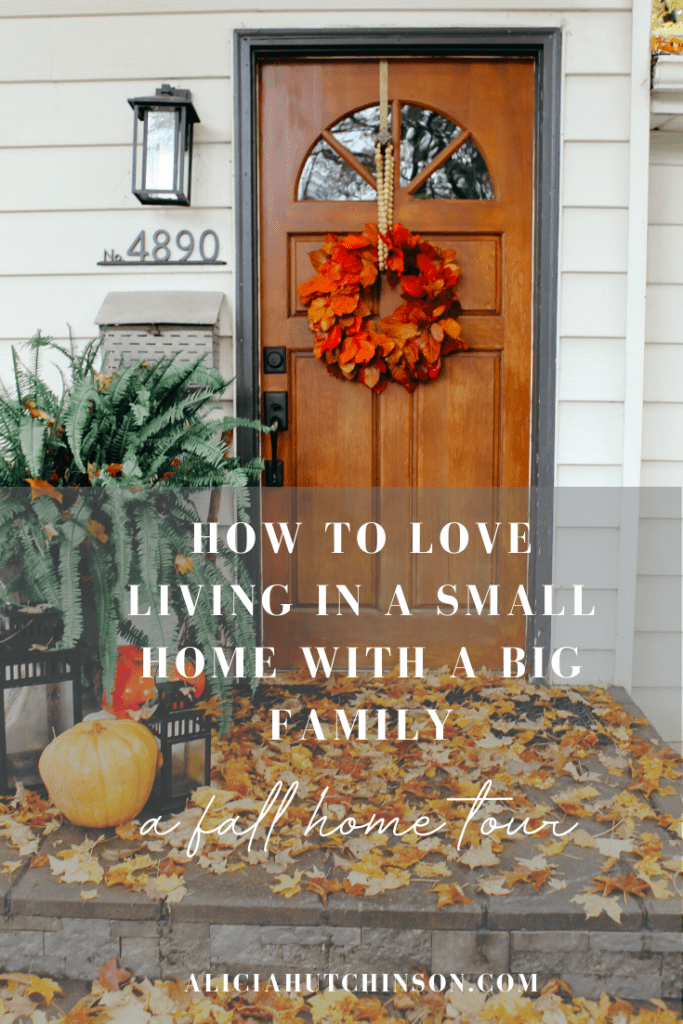 Want to see how a family of six gets cozy in their smaller-sized home? Here's a fall home tour with tips on smaller living and creating a cozy home.