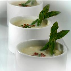 potato soup with bacon and asparagus