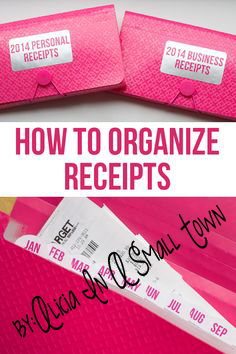 receipt organization copy