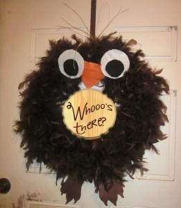 DIY Owl Wreath