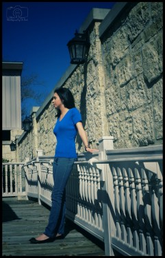 Miriam - Blanco - Leaning Against Railing - Sig - F