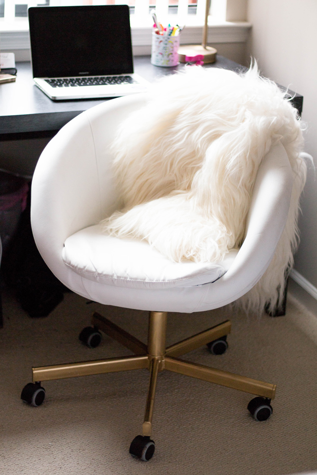 Gold Office Chair  DIY IKEA Hack  Home  Alice Tenise