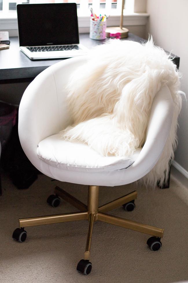 office chair gold desk png diy ikea hack home alice tenise skruvsta boconcept sheepskin throw