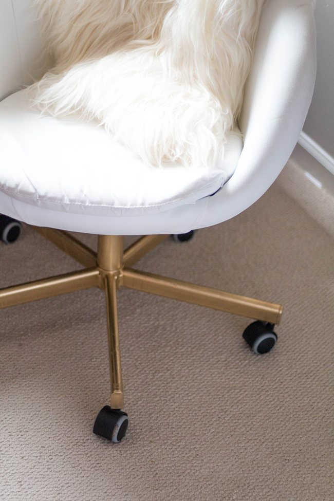desk chair diy covers pinterest gold office ikea hack home alice tenise white by popular dc blogger