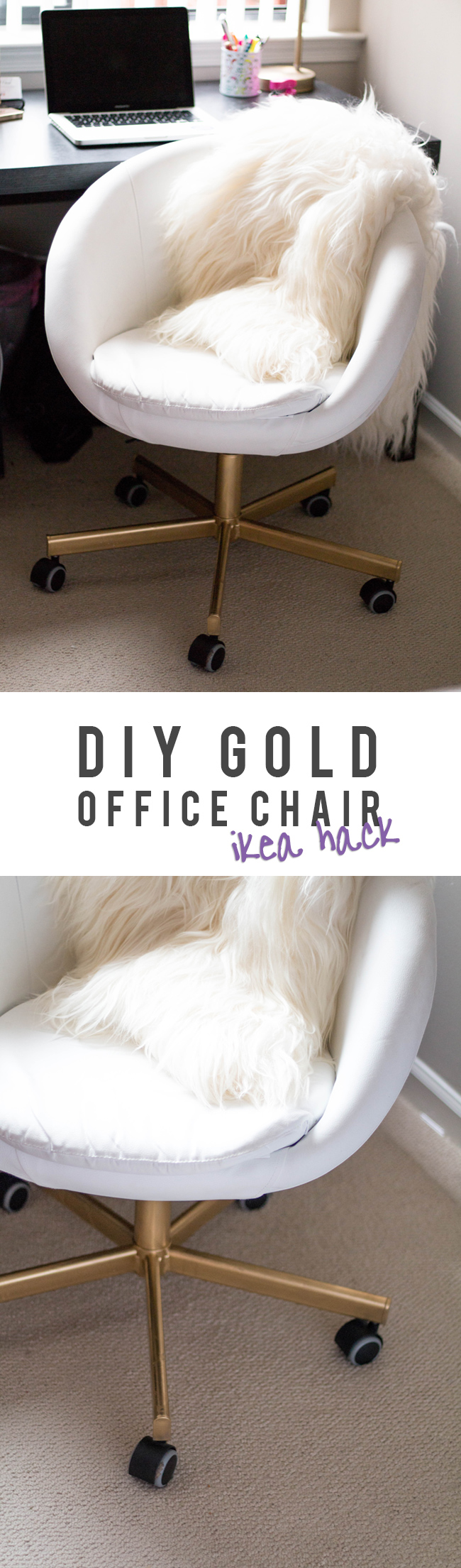 swivel chair for home office rocking camp gold   diy ikea hack alice tenise