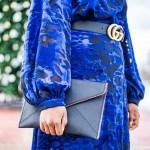 Blue Velvet Dress Outfits Alicia Tenise The Blog