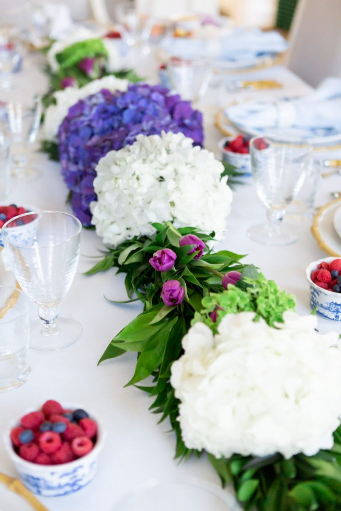 Five Tips for a Beautiful Spring Tablescape, Gracious Garlands, Easter Tablescape, Blue and White Easter Table Setting