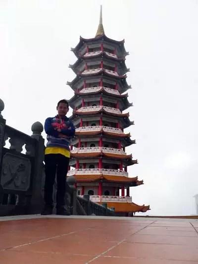 me with pagoda
