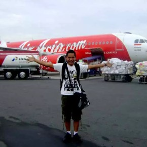 me in front of airasia aircraft