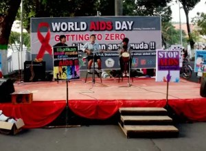 World Aids Day Stage Jombang