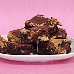 Ooey-Gooey Peanut Butter Brownies