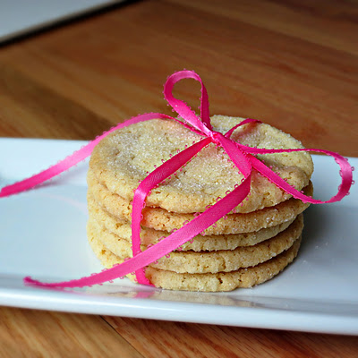 chewy sugar cookies with cream cheese from America's Test Kitchen