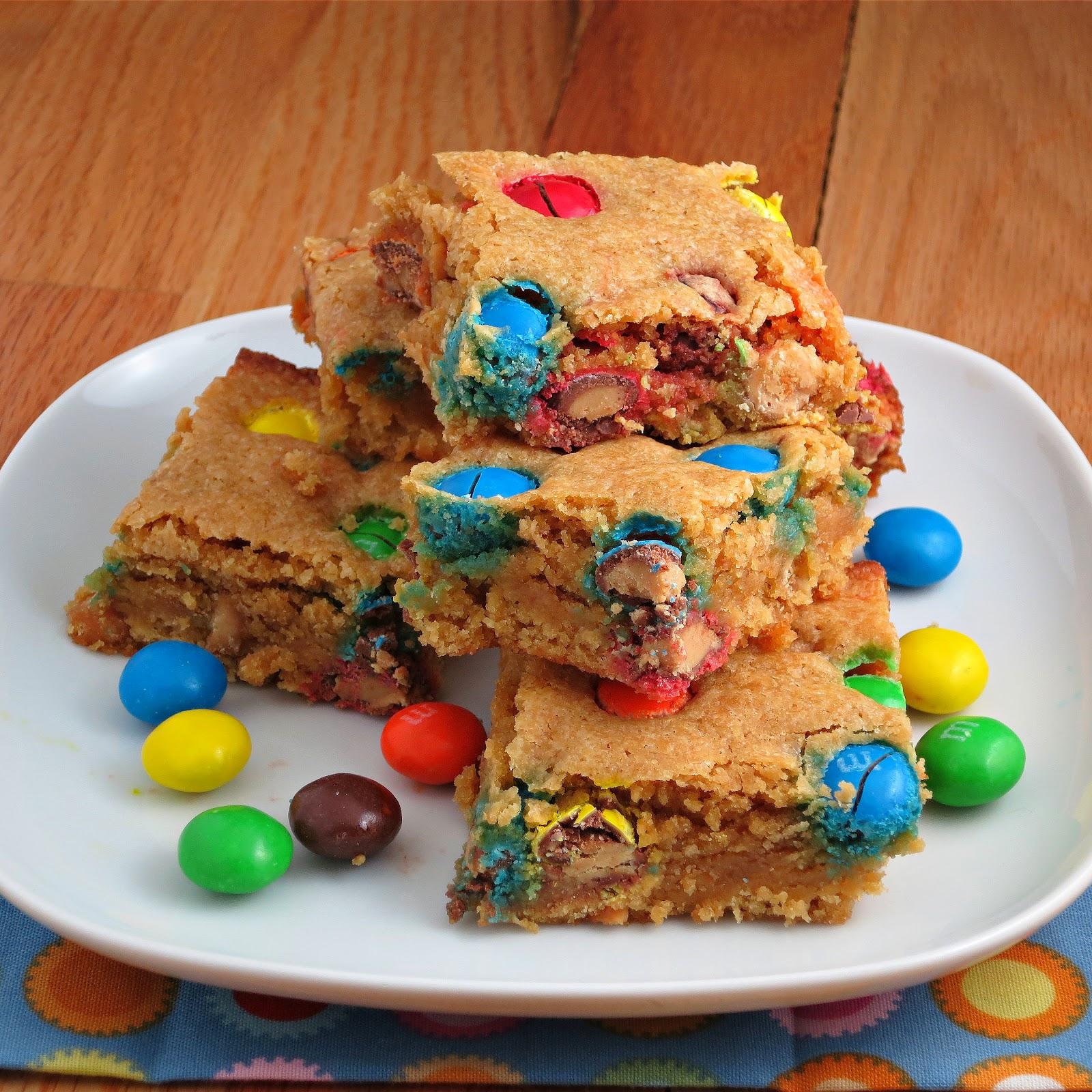 Peanut Butter M M Blondies Alida S Kitchen