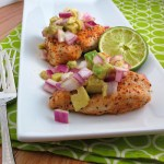 Baked Cayenne-Rubbed Chicken with Avocado Salsa