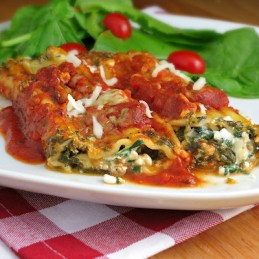 easy vegetarian spinach manicotti with no boil noodles