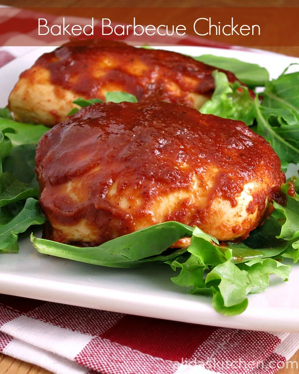 Baked Barbecue Chicken ~ easy and healthy!