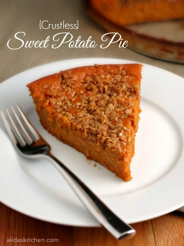 Sweet Potato Pie made without crust | alidaskitchen.com #PAMSmartTips #ad