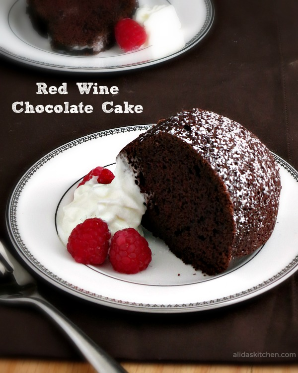 Red Wine Chocolate Cake | alidaskitchen.com
