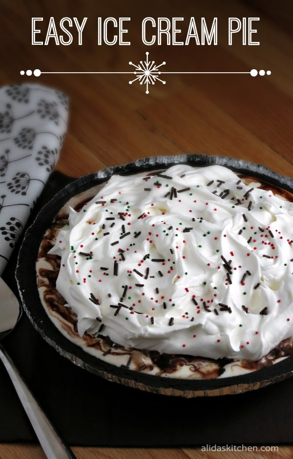 Easy Ice Cream Pie | alidaskitchen.com #PlanAhead
