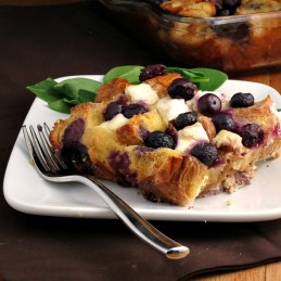 Overnight Blueberry Baked French Toast | alidaskitchen.com #recipes #SundaySupper #brunch