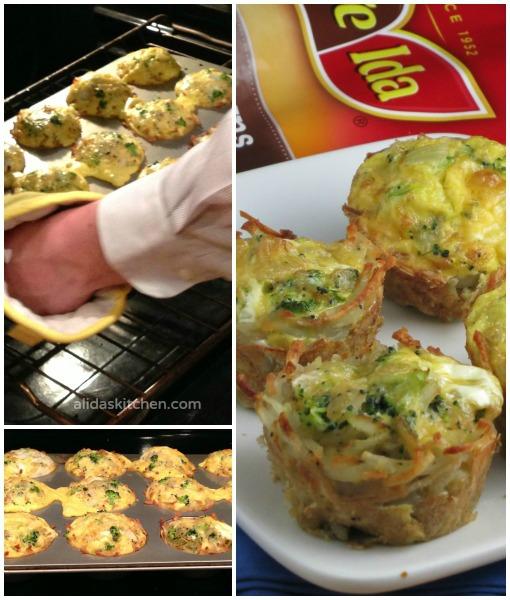 Broccoli Cheddar & Egg Hashbrowns Cups | alidaskitchen.com #recipes #OreIdaHashbrown #shop #cbias