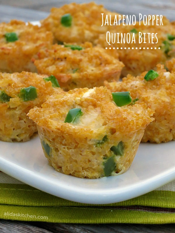 Jalapeno Popper Quinoa Bites - Alida's Kitchen #recipes #WeekdaySupper #ChooseDreams