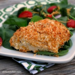 Baked Garlic Cheddar Chicken | alidaskitchen.com