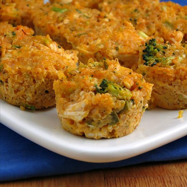 Buffalo Chicken Quinoa Bites | alidaskitchen.com #recipes #SundaySupper #tailgating #glutenfree