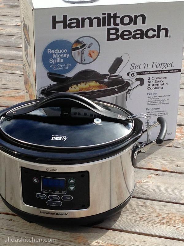 Hamilton Beach slow cooker #giveaway| alidaskitchen.com