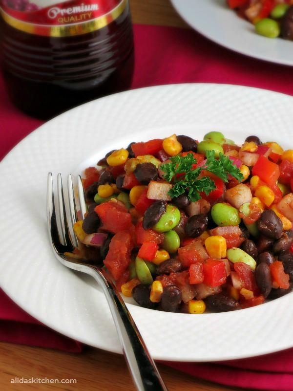 Black Bean Corn Edamame Salad | alidaskitchen.com