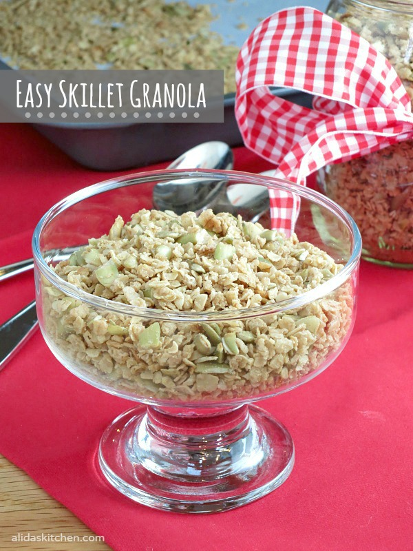 Easy Skillet Granola | alidaskitchen.com