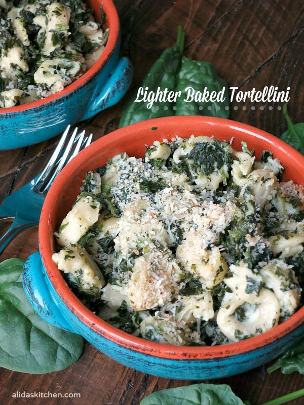 Lighter Baked Tortellini | alidaskitchen.com