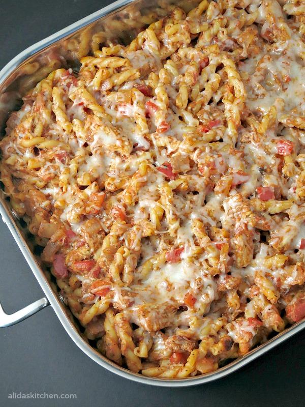 Cheesy Chicken Pasta Bake | alidaskitchen.com