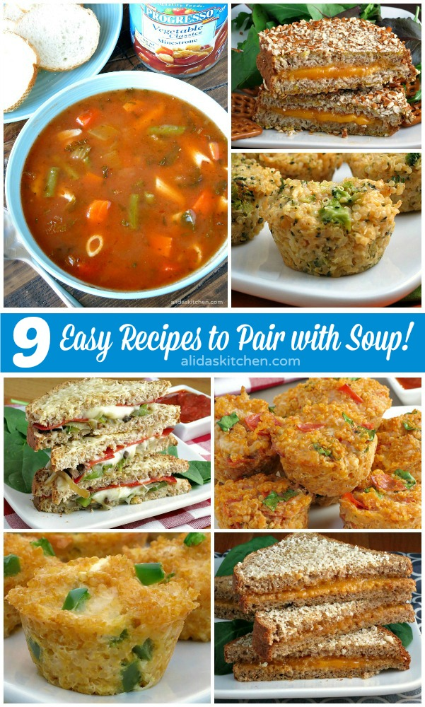 9 Easy & Healthy Recipes to Pair with Soup! | alidaskitchen.com