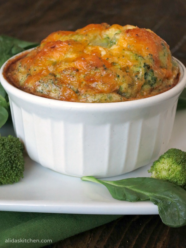 Individual Broccoli Cheddar Frittata | alidaskitchen.com