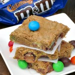 Caramel M&M Cookie Bars