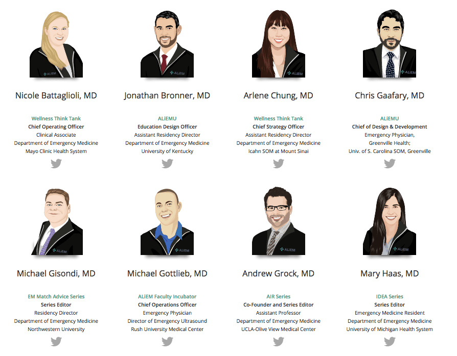 The ALiEM Team: Meet some of our all-star cast
