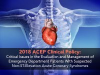 ACEP Clinical Policy 2018: Non ST Elevation ACS