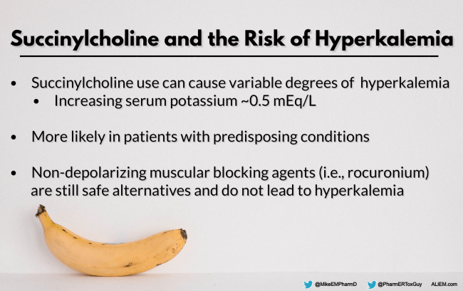 Succinylcholine and the Risk of Hyperkalemia