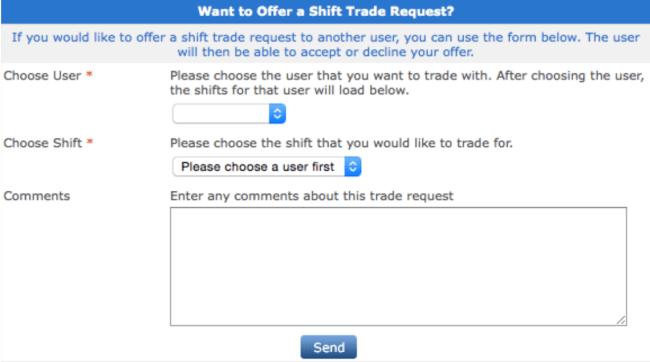 Shift Admin Shift Trade