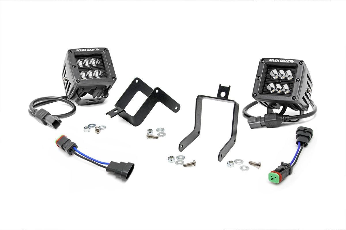 2 00 Cree Led Fog Light Kit Black Serie Ford F250 F350