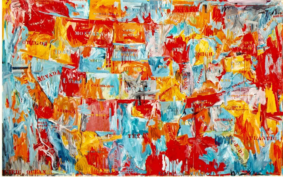 Map-Jasper Johns