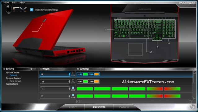 DPC Latency M17x Alienware FX Theme
