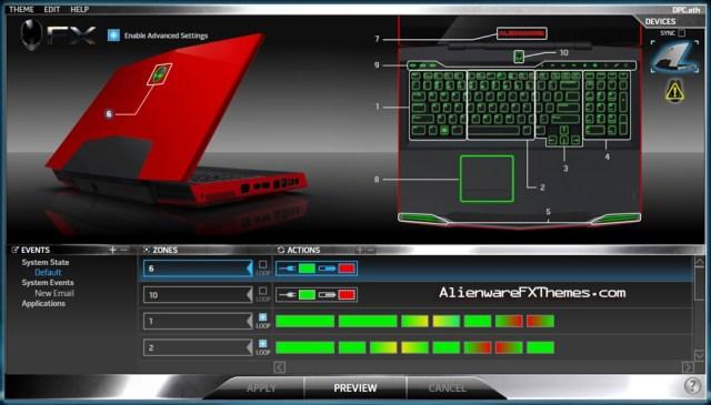 DPC M17x Alienware FX Theme